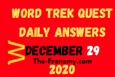 Word Trek Quest December 29 2020 Answers Puzzle