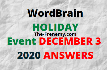 WordBrain Holiday December 3 2020 Answers Daily