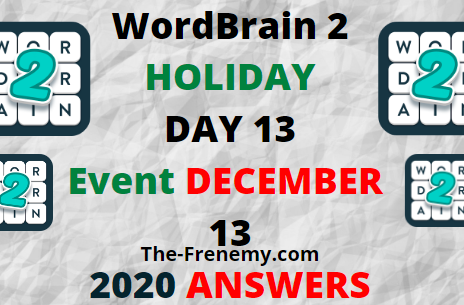Wordbrain 2 Holiday Day 13 December 13 2020 Answers