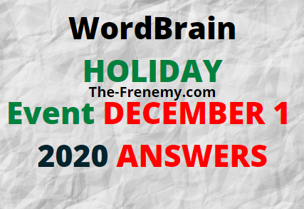 Wordbrain Holiday Day 1 December 1 2020 Answers