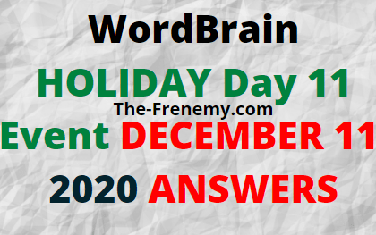 Wordbrain Holiday Day 11 December 11 2020 Answers