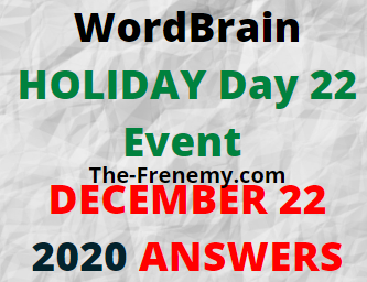 Wordbrain Holiday Day 22 December 22 2020 Answers