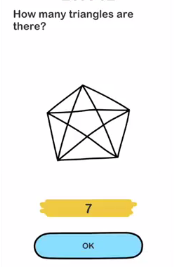 Brain Out How many triangles are there Answers Puzzle