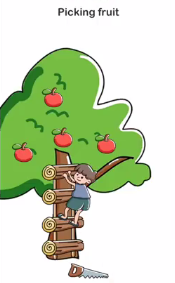 Brain Out Picking fruit Answers Puzzle