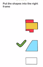 Brain Out Put the shapes Answers Puzzle