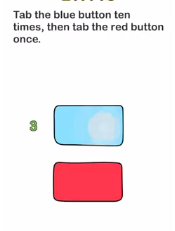 Brain Out Tap the blue button Answers Puzzle