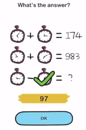 Brain Out Whats the answer 3 Answers Puzzle