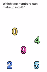 Brain Out Which two numbers Answers Puzzle
