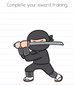 Brain Test Complete your sword training Answers Puzzle