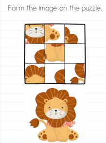 Brain Test Form the image on the puzzle Answers Puzzle