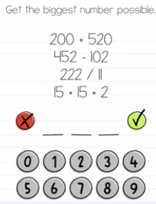 Brain Test Get the biggest number Answers Puzzle