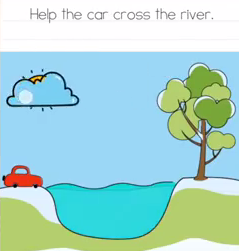 Brain Test Help the car cross the river Answers Puzzle