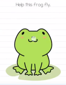 Brain Test Help this frog fly Answers Puzzle