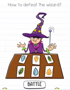 Brain Test How to defeat the wizard Answers Puzzle
