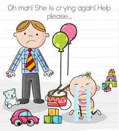 Brain Test Oh man she is crying Answers Puzzle
