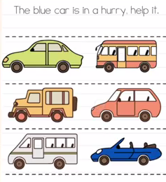 Brain Test The blue car is in hurry Answers Puzzle