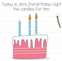 Brain Test Today is jims 2nd birthday Answers Puzzle