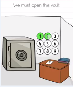 Brain Test We must open this vault Answers Puzzle