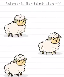 Brain Test Where is the black sheep Answers Puzzle