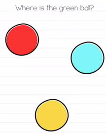 Brain Test Where is the green ball Answers Puzzle