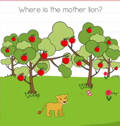 Brain Test Where is the mother lion Answers Puzzle