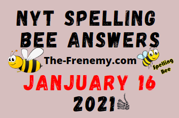 Nyt Spelling Bee January 16 2021 Answers