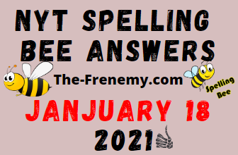 Nyt Spelling Bee January 18 2021 Answers