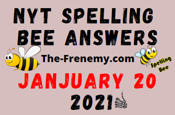 Nyt Spelling Bee January 20 2021 Answers
