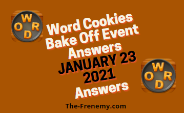 Word Cookies Bake Off January 23 2021 Answers Puzzle