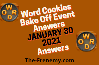 Word Cookies Bake Off January 30 2021 Answers
