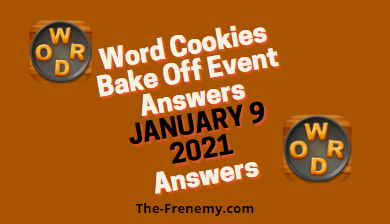 Word Cookies Bake Off January 9 2021 Answers