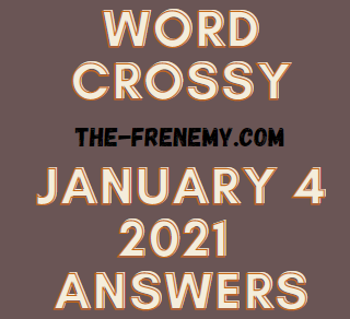Word Crossy Daily January 4 2020 Answers Puzzle
