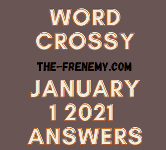 Word Crossy January 1 2021 Answers Puzzle