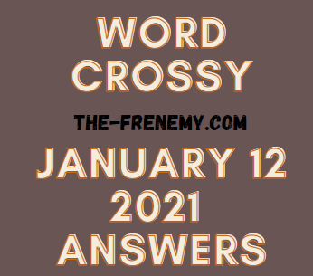Word Crossy January 12 2021 Answers Puzzle