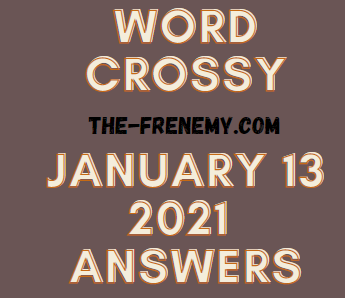 Word Crossy January 13 2021 Answers Puzzle