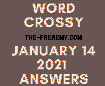 Word Crossy January 14 2021 Answers Puzzle