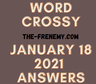 Word Crossy January 18 2021 Answers Puzzle