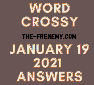 Word Crossy January 19 2021 Answers Puzzle