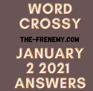 Word Crossy January 2 2021 Answers Puzzle