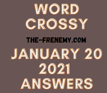 Word Crossy January 20 2021 Answers Puzzle