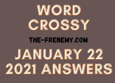 Word Crossy January 22 2021 Answers Puzzle
