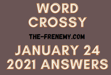 Word Crossy January 24 2021 Answers Puzzle