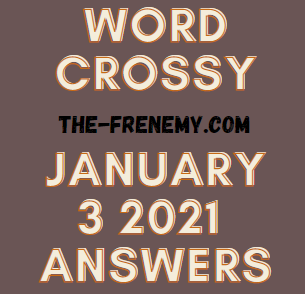 Word Crossy January 3 2021 Answers Puzzle
