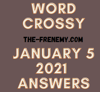 Word Crossy January 5 2021 Answers Puzzle