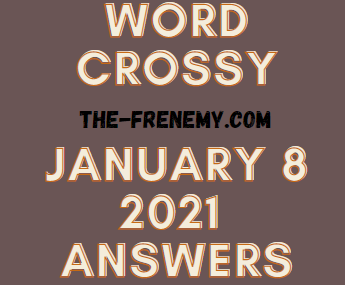 Word Crossy January 8 2021 Answers Puzzle