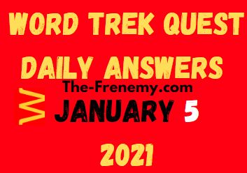 Word Trek Quest Daily January 5 2021 Answers Puzzle