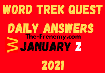 Word Trek Quest January 2 2021 Answers Puzzle