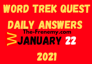 Word Trek Quest January 22 2021 Answers Puzzle