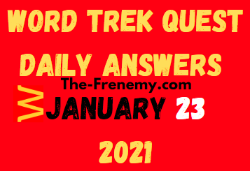 Word Trek Quest January 23 2021 Answers Puzzle