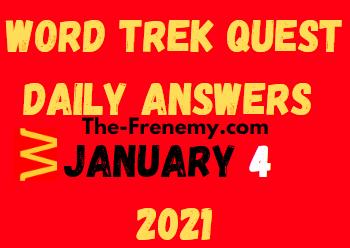Word Trek Quest January 4 2020 Answers Puzzle